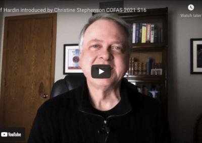 Jeff Hardin introduced by Christine Stephenson COFAS 2021