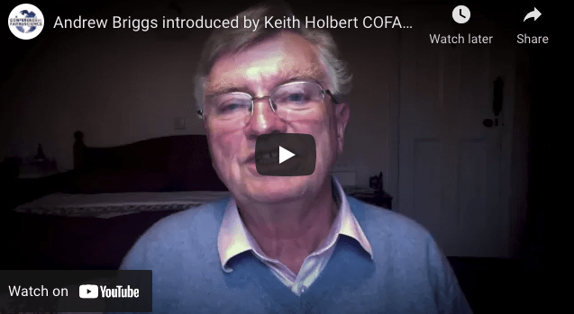 Andrew Briggs introduced by Keith Holbert COFAS 2021