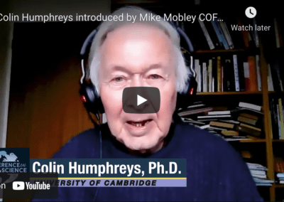 Colin Humphreys introduced by Mike Mobley COFAS 2021