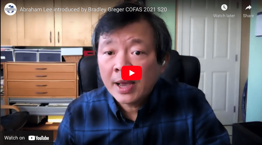 Abraham Lee introduced by Bradley Greger COFAS 2021