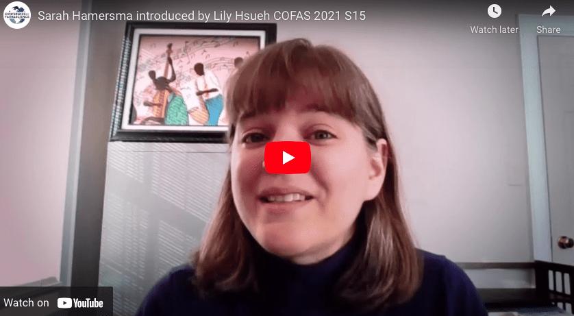 Sarah Hamersma introduced by Lily Hsueh COFAS 2021