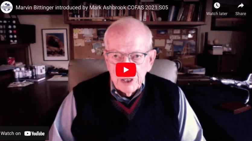 Marvin Bittinger introduced by Mark Ashbrook COFAS 2021