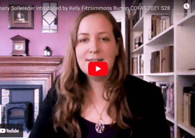 Bethany Sollereder introduced by Kelly Fitzsimmons Burton COFAS 2021