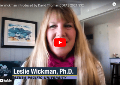 Leslie Wickman introduced by David Thomas COFAS 2021