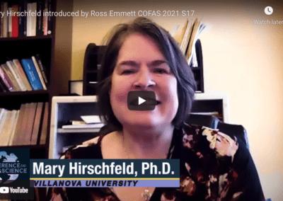 Mary Hirschfeld introduced by Ross Emmett COFAS 2021