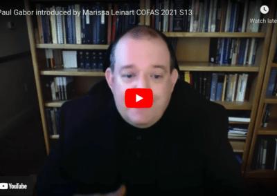 Fr. Paul Gabor introduced by Marissa Leinart COFAS 2021