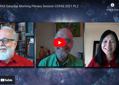 COFAS Saturday Morning Plenary Session COFAS 2021