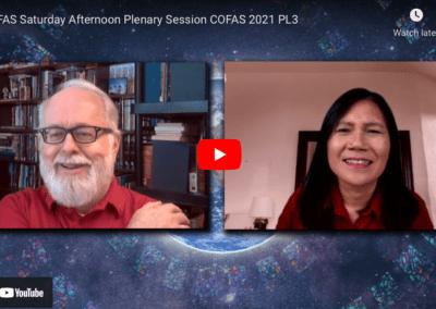 COFAS Saturday Afternoon Plenary Session COFAS 2021