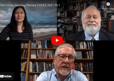 COFAS Friday Opening Plenary COFAS 2021
